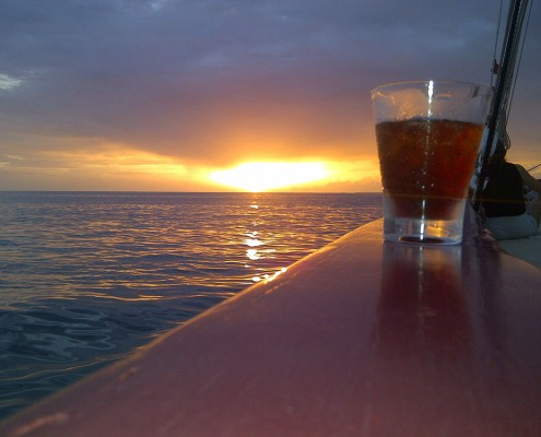 Rum Punch at Sunset Original